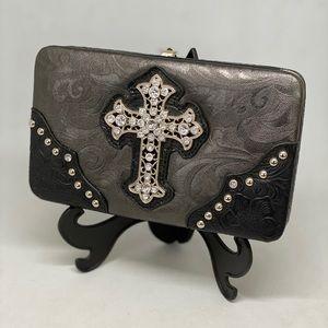 HANANEL Cross Black/Grey Wallet 💥NWOT💥